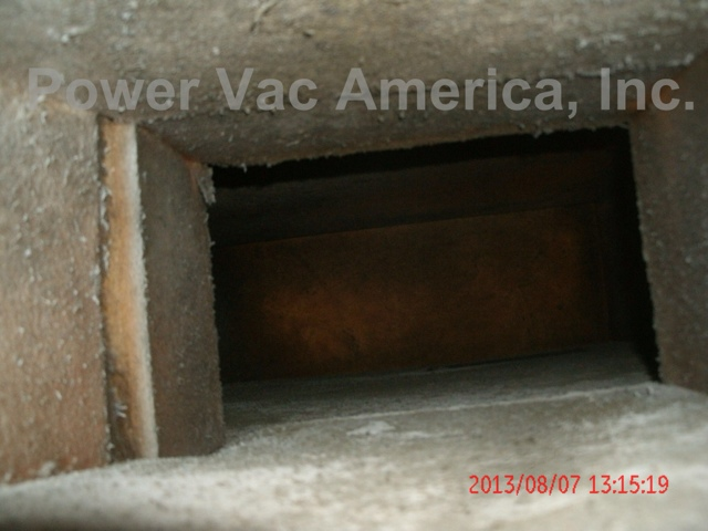 air duct cleaning before photo ductboard in an apartment