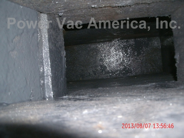 clean duct board after photo for air duct cleaning in an apartment