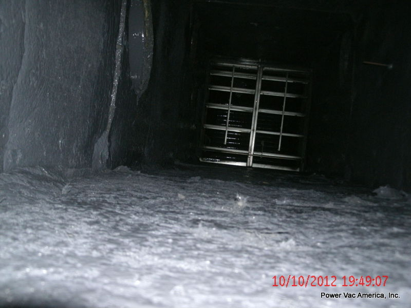 Inside Supply Air Duct Resurfaced and Clean