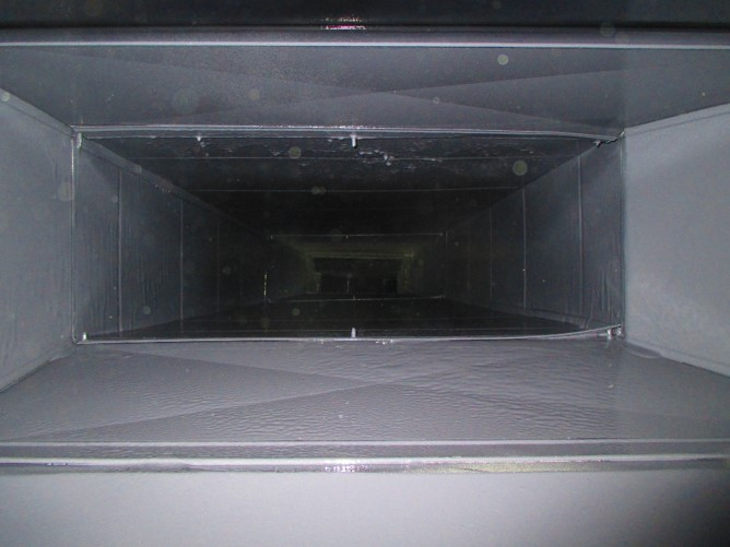 Supply duct after air duct cleaning and sealing