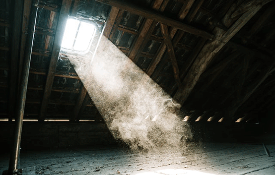 dusty attic
