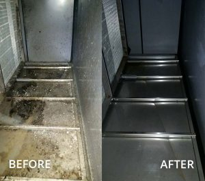 Before and After Commercial Air Handler Unit Cleaning in Cypress, TX